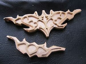 Brass Gothic Set Top Bottom Leather Bookbinding Press Tool Stamp Embossing Die
