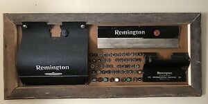 Antique Remington Typewriter 1940s Parts Art Framed Steampunk Industrial Awesome