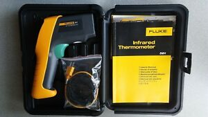 Genuine Fluke 561 Infrared Thermometer With K type Thermocouple Contact Probe