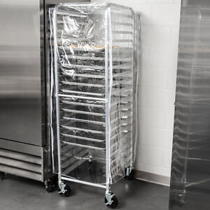 20 Pan Aluminum End Load Full Height Bun Sheet Pan Rack With Cover And 12 Pans