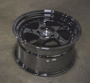 Esr Sr02 18x9 5 35 5x114 3 Black Chrome Wrx Civic Rsx Mazda3 Accord Lancer Tsx