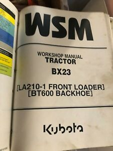 Kubota Bx23 Tractor Loader Backhoe Workshop Service Manual W Color Insert Used