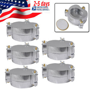 5x Dental Dentist Al Denture Flask Compressor Parts With Cover Dental Lab Jt 12