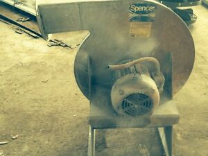 Industrial Fan Blower Spencer Blower Cat M1205 ss
