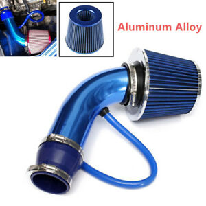 Universal 3 Car Cold Air Intake Filter Alumimum Induction Kit Pipe Hose System