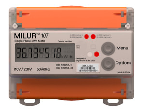 Milur 107 Electric Smart Meter Submeter Kilowatt hour Kwh Single Phase