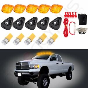 5x Cab Marker Roof Running Light Yellow Led Wire For Ford F 250 F 350 Super Duty