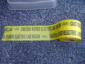 Caution Buried Electric Line Below 6 X 1000 Roll Yellow Black Barricade Tape