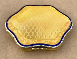 Lovely German Solid Silver Gilt Guilloche Enamel Box C1900 90 7g 3 2oz