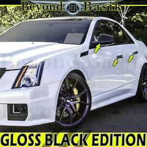 2008 09 10 11 12 2013 Cadillac Cts Gloss Black Door Handle Covers mirror Covers