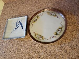 Antique Japanese Hand Painted Plates Estate Find