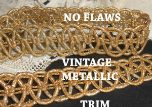 Vintage Gold Lamey Thick Metallic Trim No Flaws