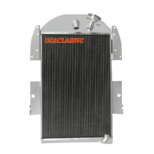 4row Aluminum Radiator For Chevy Pickup Truck L6 V8 Conversion 1934 1936 1935 Us