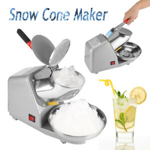 Electric Ice Crusher Shaver Machine Snow Cone Maker Shaved Ice 187 Lbs S