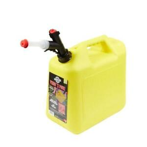 Garage Boss Press n Pour 5 Gallon Diesel Can Yellow Gb356 Case Of 3