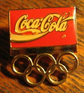 Coca Cola Olympics Lapel Pin - Vintage Coke Soda Pop Olympic Games Logo Badge