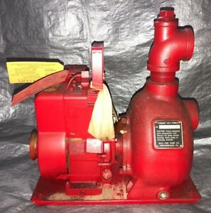 Vintage Nos Briggs Stratton Engine 3 Hp 4 Cycle Hale 20t Fire Water Pump