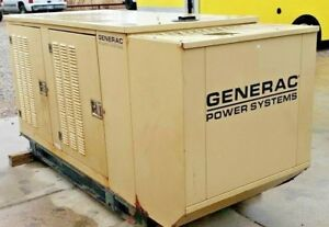 Generac 30 Kw Natural Gas Outdoor Generator 436 Hours tested