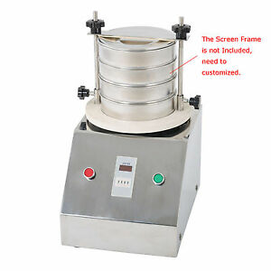 220v Vibrating Sieve Machine For Granule powder grain Electric Lab Shaker 1 4mm