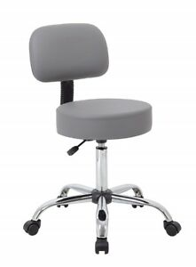 Small Adjustable Medical Stool Office Work Furniture Rolling Chair With Backrest