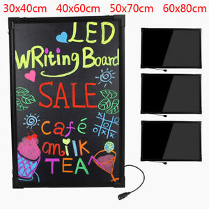 32 24 Led Flashing Illuminated Erasable Neon Message Menu Sign Writing Board