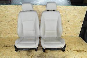Bmw E90 Front Right Left Sport Seat Chairs Heated Complete Oyster 41k Oem
