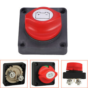 Brand New Battery Disconnect Isolator Switch 300a For Marine Boat Car Vehicles
