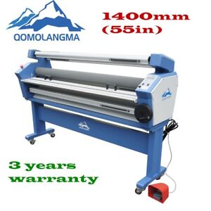 Qomolangma 1400mm Full auto Wide Format Cold Laminator With Heat Assisted 110v
