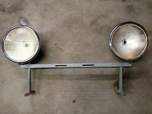 Vintage Headlight Buckets Bar With Stands Buick Dodge Ford Chevy Cadillac