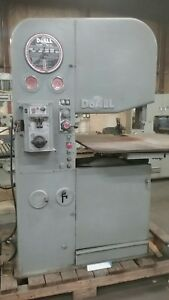 Doall Vertical Bandsaw Model 2612 2h