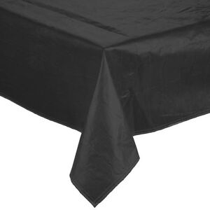 25 Yard Roll Black Vinyl Table Cover With Flannel Back