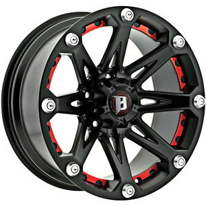 Ballistic Jester 20x9 Black Red Inserts Wheel 6 139 7 0mm Et 110mm Hub Bore