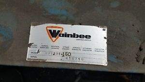 Wainbee Model Hp 1291 160 Hydraulic Pump And Reservoir With Three Phase Motor