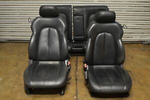 98 03 W208 Coupe Mercedes Clk55 Clk430 Amg Front Rear Seats Black Leather