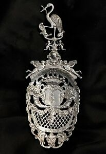 Antique Dutch Silver Spoon Fron 1820th Large Hand Made Magnificent Marked