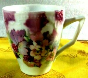 Delicate Antique Hand Painted Miniature China Teacup