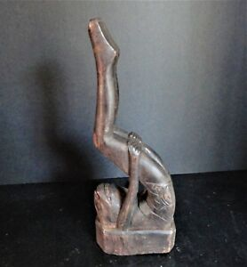 Antique African Wood Carved Tribal Statue Figure Art Unusual