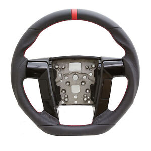 Handkraftd Black Perforated Leather Steering Wheel For 11 12 13 14 Ford F150