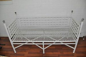 Antique Wrought Iron Day Bed Very Heavy