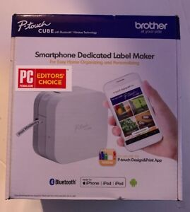Brother P touch Cube Smartphone Label Maker With Bluetooth Wireless Technology