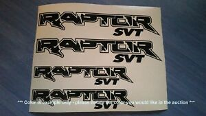 Ford Raptor Svt Emblems Stickers Decals 4 Total Multiple Colors
