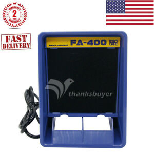 New Fa 400 Soldering Iron Smoke Absorber Fume Extractor Free 12 Filter Kit us