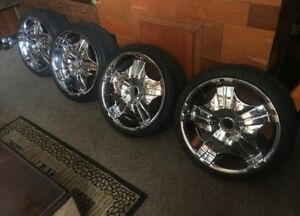 20 Inch Chrome Rims 5 4 5 Set Of 4 Ford S10 Truck 20 Wheels Used Condition