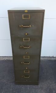 Art Metal 4 Drawer Legal Brief File Cabinet With Brass Pull s