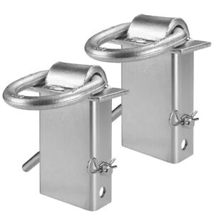 Vulcan Silver Stake Pocket D Ring Assembly 2 Pack