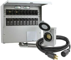 Reliance Controls 10 Circuit 30 Amp Outdoor High Impact Manual Transfer Switch