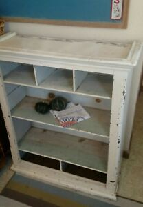 Old Antique Painted Pine Kitchen Cupboard Cabinet Shabby Distressed Farmhouse