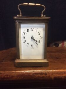 French Carriage Clock Duverdrey Bloquel Brass Circa 1930 Working