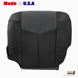 Fits 2002 Chevy Avalanche 1500 Driver Bottom Leather cloth Seat Cover Dark Gray