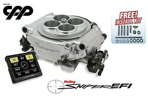 Holley Sniper Self Tuning Efi Conversion Kit Fuel Injection 550 510 Shiny Finish